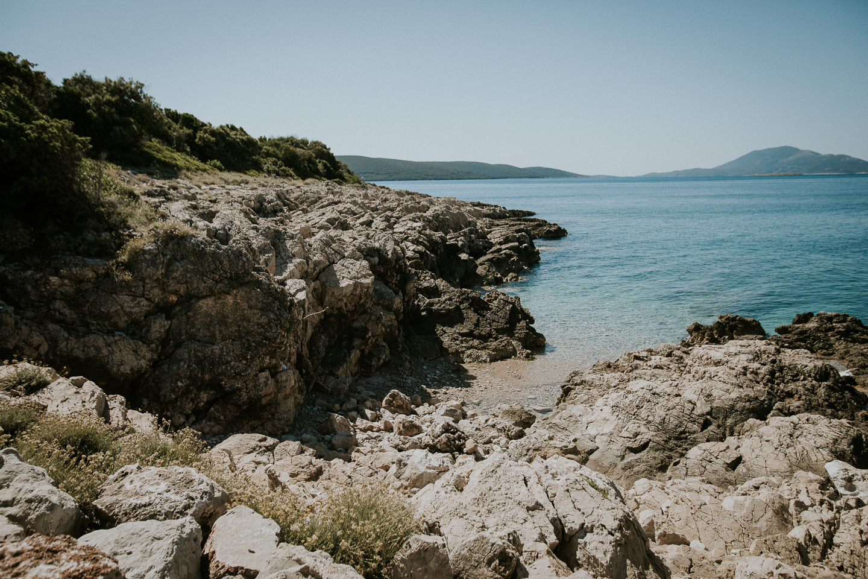 Kleine Bucht in Martinscica auf der Insel Cres