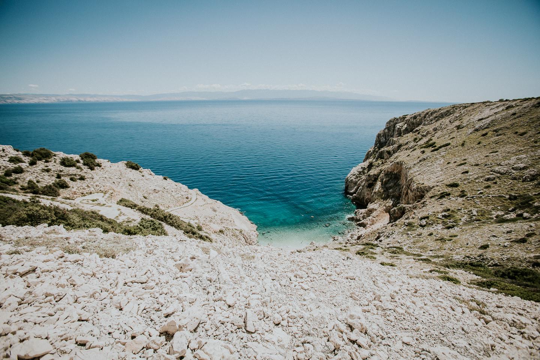 Die Bucht von Orlec auf der Insel Cres
