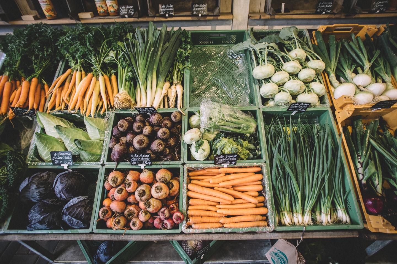 Der Landladen Kraut und Rüben bei Sankt Peter Ording hat eine tolle Obst- und Gemüseauswahl.